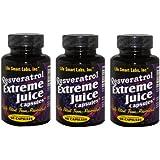 1000 MG Resveratrol Extreme TM Capsules (3 Bottles) Resveratrol complex capsules 3 Months 180 pills HIGHLY POTENT Resveratrol capsules. 3 MONTH GUARANTEE. , 2 capsules = 1000mg 90 days