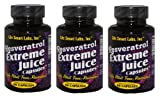 500 MG Resveratrol Extreme Juice Capsules TM 3 Months 180 pills HIGHLY POTENT Pure Resveratrol pills. 3 MONTH GUARANTEE. TWICE AS POTENT PER MILIGRAM AS REGULAR RESVERATROL Resveratrol Juice Extreme