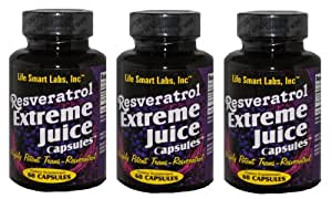 1000 MG Resveratrol Extreme Capsules (3 Bottles) Resveratrol capsules TM 3 Months 180 pills HIGHLY POTENT Resveratrol capsules. 3 MONTH GUARANTEE. TWICE AS POTENT AS many RESVERATROL, Resveratrol Extreme 2 capsules = 1000mg