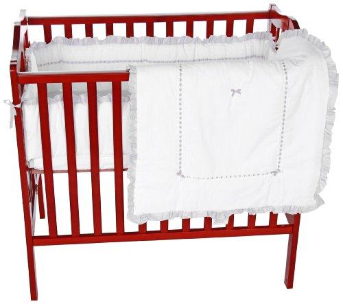 Baby Doll Unique Port-a-Crib Bedding Set, Grey