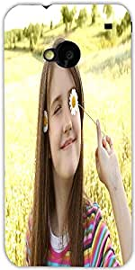 Snoogg Romantic Little Girl Designer Protective Back Case Cover For Htc One M7