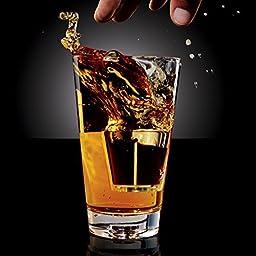 Drop Shots Pint Glasses - Set of 2 by Brookstone