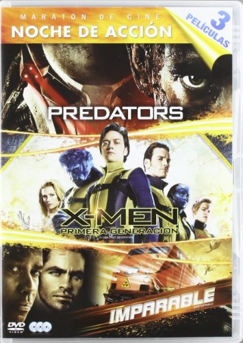 Predators + X-Men: Primera Generación + Imparable [DVD]