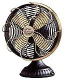 Casablanca Fan Company 1928D Zephair Matte Black Desk Fan with Satin Brass Accents