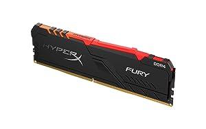 HyperX Fury 8GB 3000MHz DDR4 CL15 DIMM 1Rx8 RGB (Tamaño: 8GB)