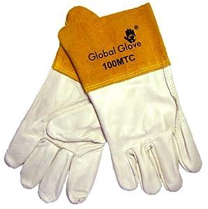 Global Glove 100MTC Cow Grain Kevlar Sewn Mig Tig Welder Glove, Work, Large (Case of 72) by Global Glove