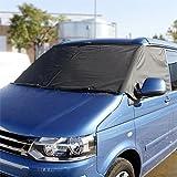 VW Transporter T5 T6 Camper Scheibe Vorne Vorhang Wickel abdeckung schwarz