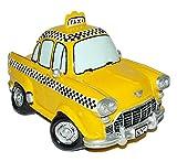 XL Spardose Auto Taxi - stabile Sparbüchse aus Kunstharz -