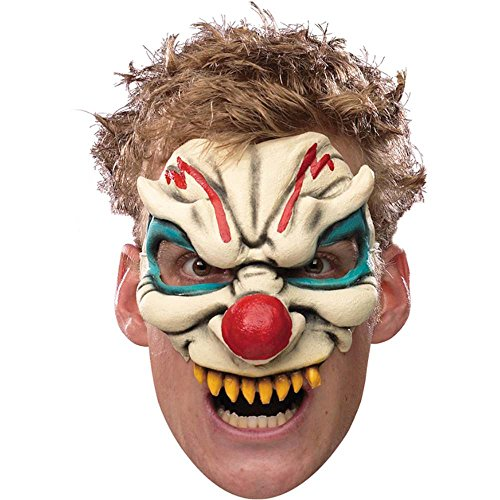 Evil Clown Chinless Mask - One Size