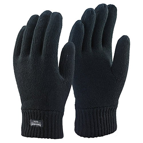 Thinsulate Mens Thermatec 3M Insulaiton Black Thermal