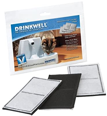 Drinkwell 2-Chamber Replacement Filters for Drinkwell Original, 3 Filters