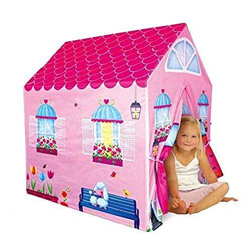 [Cottage Playhouse Girl City House Kids Secret Garden Pink Play Tent < Material: 100% Polyester fabric & Plastic pole] (Animal That Starts With The Letter N)