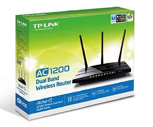 TP-LINK Archer C5 AC1200 Dual Band Wireless AC Gigabit Router, 2.4GHz 300Mbps+5Ghz 867Mbps, 2 USB Ports, IPv6, Guest Network