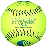 Trump® MP-11-CLASW-Y MP Leather Series USSSA 11 Inch Blue Stitch Yellow Leather Softball (Sold in Dozens)