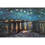 Starry Night over the Rhone, c.1888 Poster Print by Vincent van Gogh, 36x24 Artists Poster Print by Vincent van...