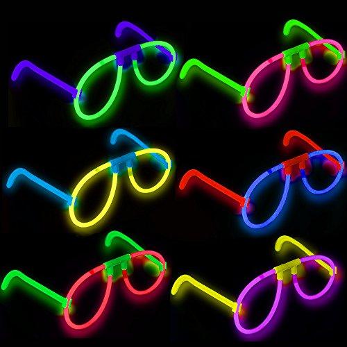 German Trendseller® - 6 x magique lunettes lumineuses ? batôns fluorescents? glowsticks ?anniversaire d'enfant? chasse au trésor ? carnaval