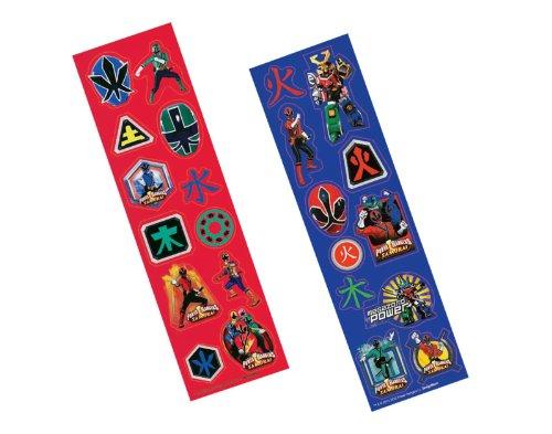 Amscan Mens Power Rangers Samurai Sticker Strips Red/black Medium - 1