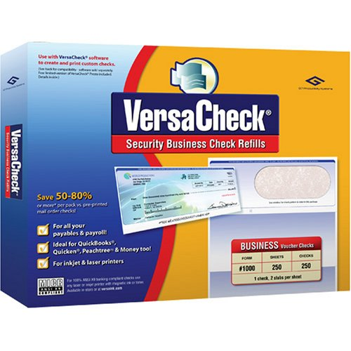 Versacheck Security Business Check Refills, Form # 1000, Business Voucher, Burgundy Classic, 250 Sheets (10Uc01-1313)