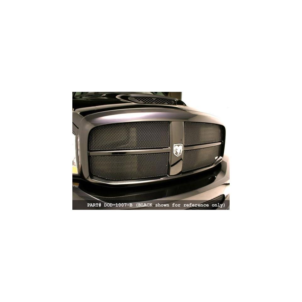 Dodge RAM Pickup 06 07 MX Series Grille Upper Insert 4pc in Silver