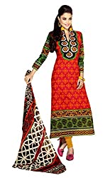 TEXCLUSIVE WOMEN'S PURE COTTON STRAIGHT FIT SEMI-STITCHED DRESS MATERIAL
