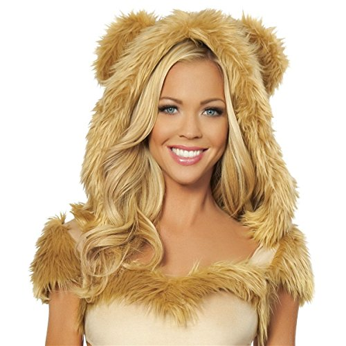 [GSG Lion Costume Adult Sexy Lioness Halloween Fancy Dress] (Woman Lioness Costume)