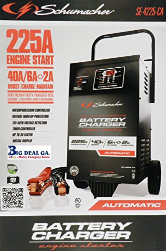 Schumacher Wheeled Electric Battery Charger-Se-4225-Ca front-133674