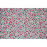 Homescapes Pure Cotton Furnishing Fabric - Butterflies - Pink Blue - 150 cm Wide - Printed on Thick Woven - for Upholstery Curtain Cushion Soft Furnishings Heavy Dress Material - Per Metreby Homescapes