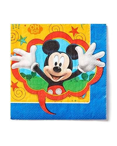 American Greetings Mickey Mouse Clubhouse Lunch Napkins, 16 Count, Party Supplies Novelty