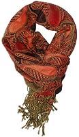 LibbySue-Silk Blend Paisley Teardrop Tapestry Pashmina