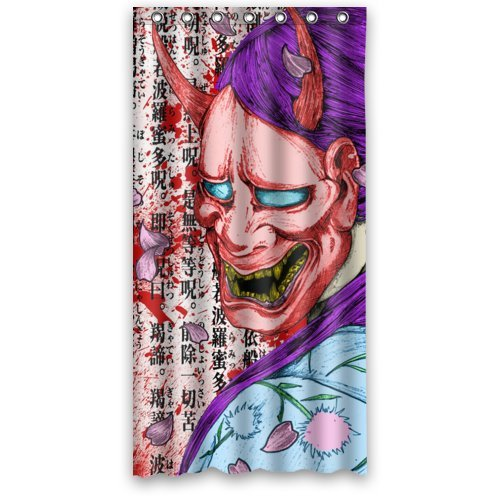 Mayers 36W X 72H Shopping Online Japanese Art Geisha In Hannya Mask Creative Design Fabric Shower Curtain 100 Polyester