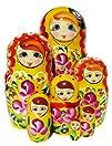 Barbara Nesting Doll 7-pc 8H in Yellow