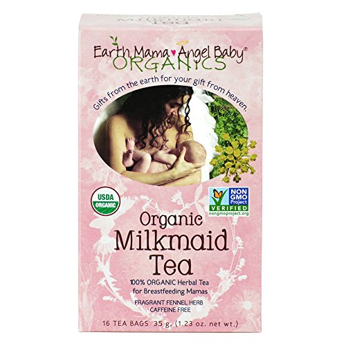 Earth Mama Angel Baby Organic Milkmaid Tea, 16 Teabags/Box  (Pack of 3)