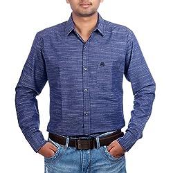 Aaduki Men's Casual Blue Shirt-38