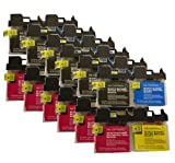 6X LC980/1100 MULTIPACK - 24 COMPATIBLE INK CARTRIDGES TO REPLACE BROTHER MFC-6490CW PRINTERS - HIGH CAPACITY - LATEST CHIP - Pack Replaces (LC-1100BK, LC-1100C, LC-1100M, LC-1100Y)LC980, LC67, LC65, LC61, LC38, LC16, LC11 - 100% GUARANTEED TO WORK IN EX