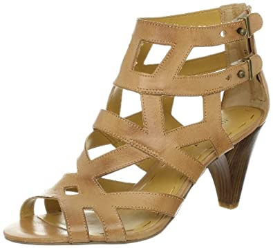 Nine West Women's Controller Sandal,Dark Natural Leather,7 M US