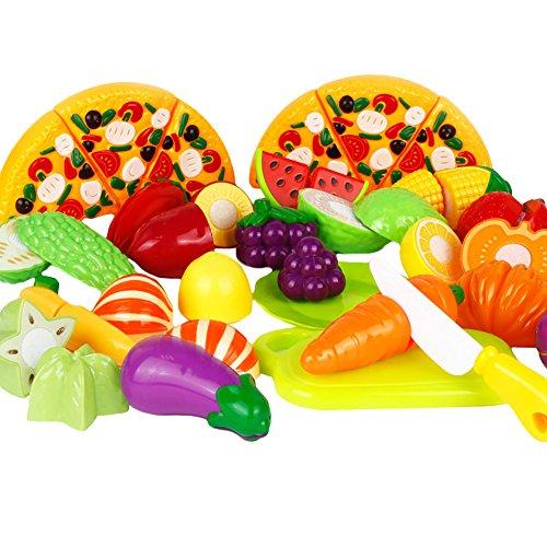 M&A-1 Set Frutta Verdura Cucina Giocattolo Taglio Gioco Per Bambini, 24 pezzi