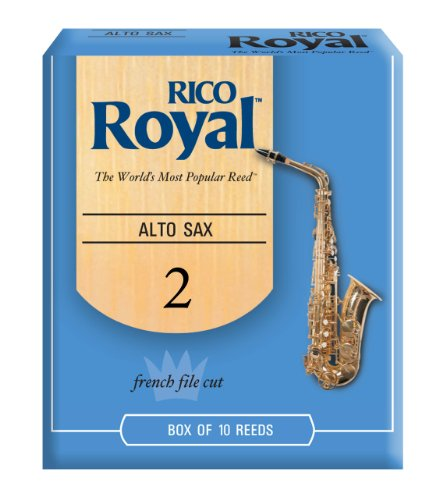 Rico Royal Alto Sax Reeds, Strength 2.0, 10-pack