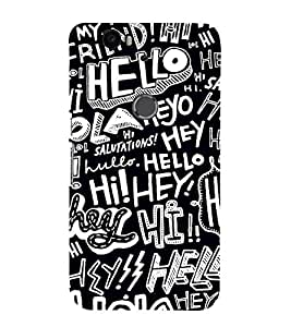 99Sublimation Hello Pattern 3D Hard Polycarbonate Back Case Cover for Huawei Nexus 6P :: Huawei Google