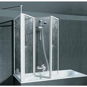 SCHULTE Badewannenaufsatz mit Teleskopstange und Seitenwand 0, 0, alunatur