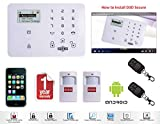 D3D Model D9 With 2 PIR Sensor+ 2 Remote Touch Screen Smart phone iOS/ Android Mobile apps Wireless Sensor Security System
