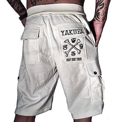 Yakuza Cargo Shorts Herren Special Edition kurze Jogginghose Sweatpant Eight Nine Three SSB 663 snow white