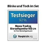 2x-Klappbank-Bierbank-Campingbank-180-x-25-cm-Set-Partybank-wei-Kunststoff-wetterfest-robust-stabil