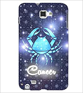 PrintDhaba Zodiac Cancer D-5767 Back Case Cover for SAMSUNG GALAXY NOTE 1 (Multi-Coloured)