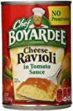Chef Boyardee Cheese Ravioli in Tomato Sauce, 15 Ounce (Pack of 12)