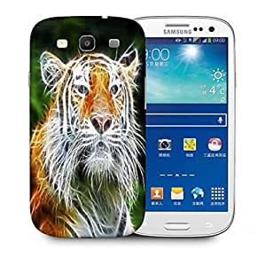 Snoogg Abstract Neon Tiger Designer Protective Phone Back Case Cover For Samsung Galaxy S3