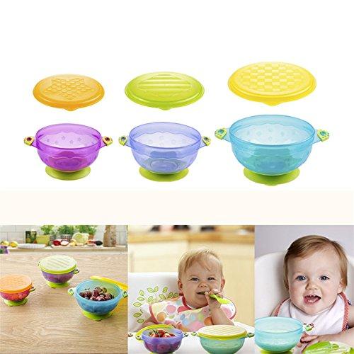 new-cute-3pcs-stay-put-ventosa-ciotola-cibo-ciotole-con-coperchi-seal-easy-neonati-morbido-bowlspill