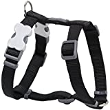 Red Dingo Plain Black Dog Harness 15mm x (Neck: 30-48cm / Body 36-54cm)