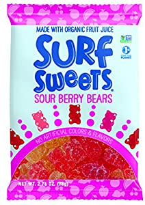 Surf Sweets Sour Berry Bears, 2.75-Ounce Bags (Pack of 12)