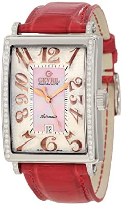 Gevril Women's 6208RE Glamour Automatic Pink Diamond Watch