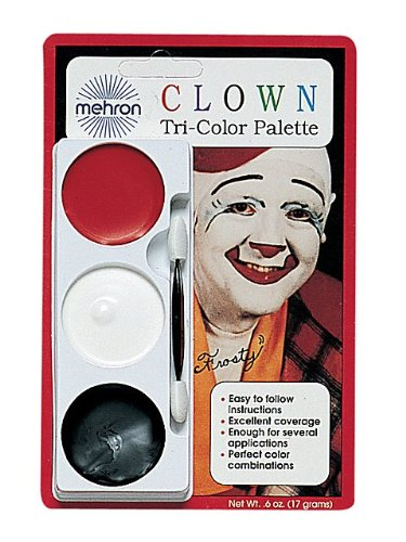 Mehron Inc. 403CC Tri Color Pallettes Clown